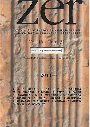Revista Zer, Vol. 16- Nº 31. Noviembre 2011. Revista de estudios de comunicación.